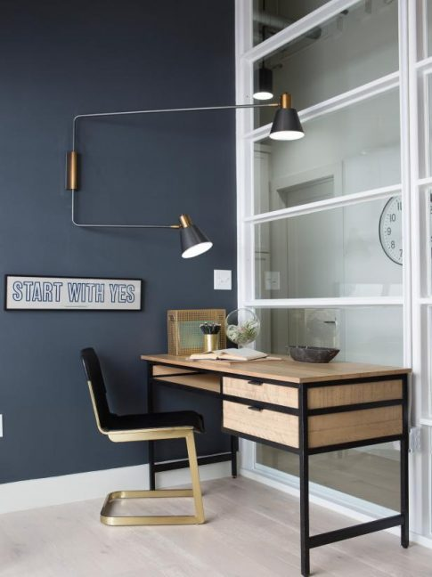 desk ideas, black paint