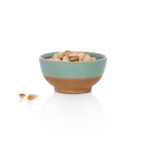 Terracotta & Blue Glazed Bowl, Small