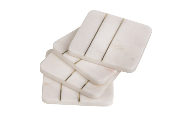 Easton, Marble Square Coaster Set
