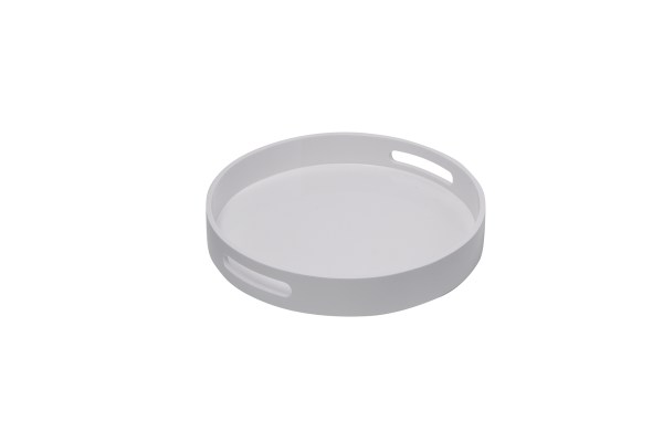Levi Round Lacquer Tray, Small