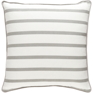 Vinyasa, Slim Stripe Pillow, Gray & White