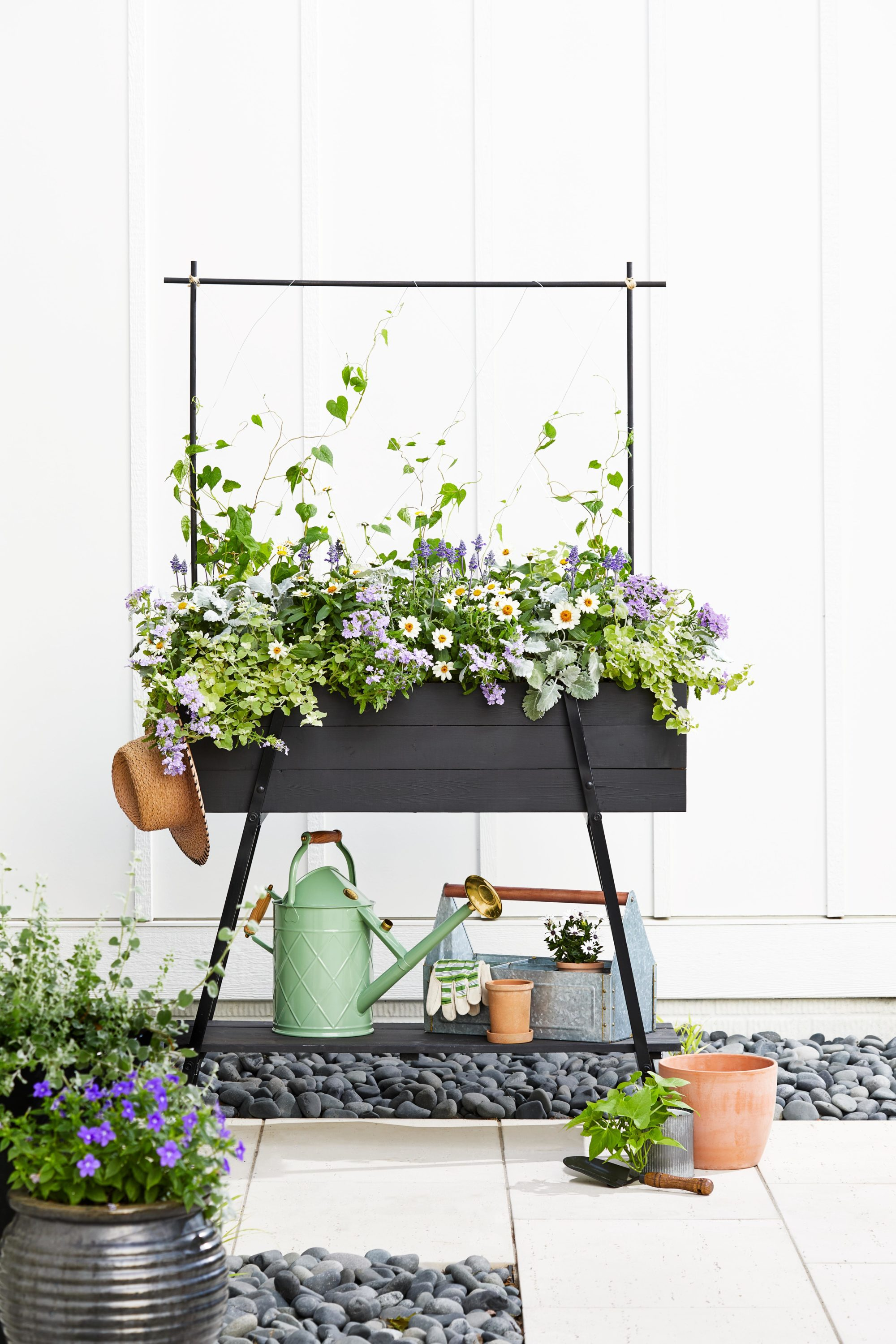 DIY Outdoor Projects, Farmhouse design style, outdoor planter