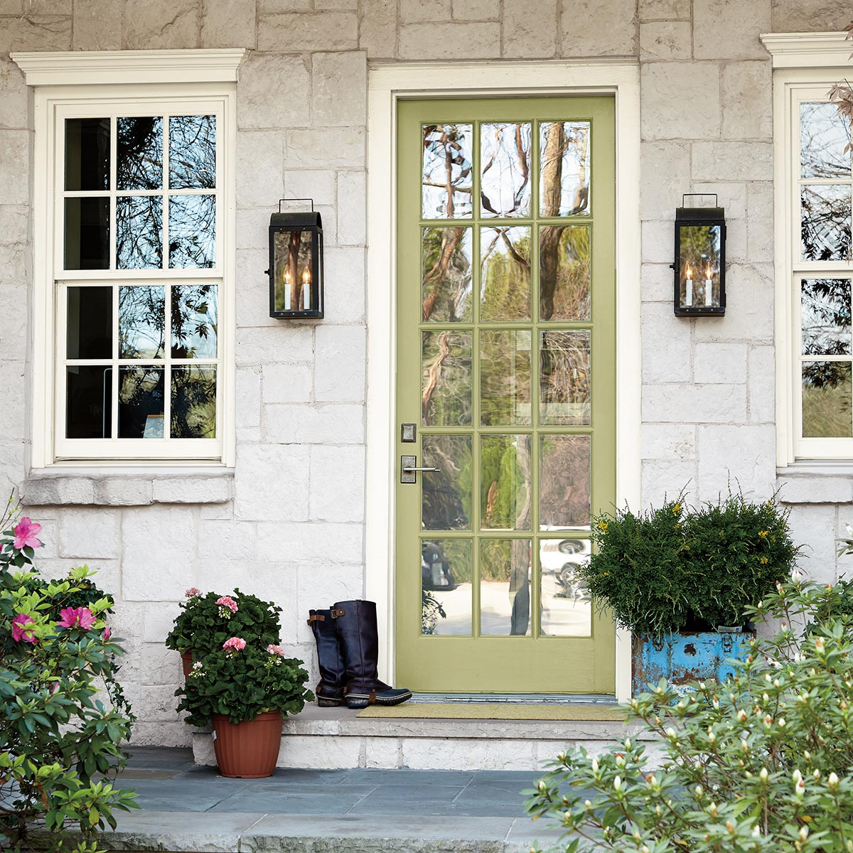 Behr 2020 COY, Back to Nature, Front Door, green paint color