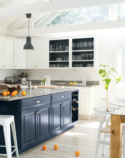 Benjamin Moore, Kitchen, Oxford Gray, White Heron
