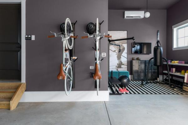 Garage, home gyms, gray paint color, Stunning Shade HGSW3382