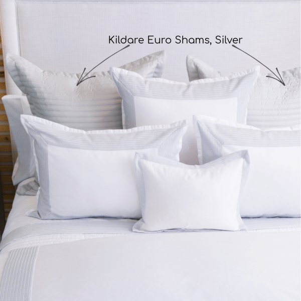 Kildare Sateen Channel Quilted Euro Shams