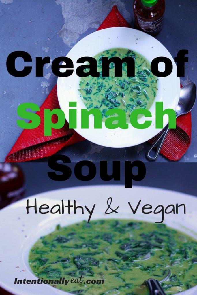 Star Trek Recipe: Vegan Cream of Spinach Soup