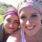 the girls enjoying the hike