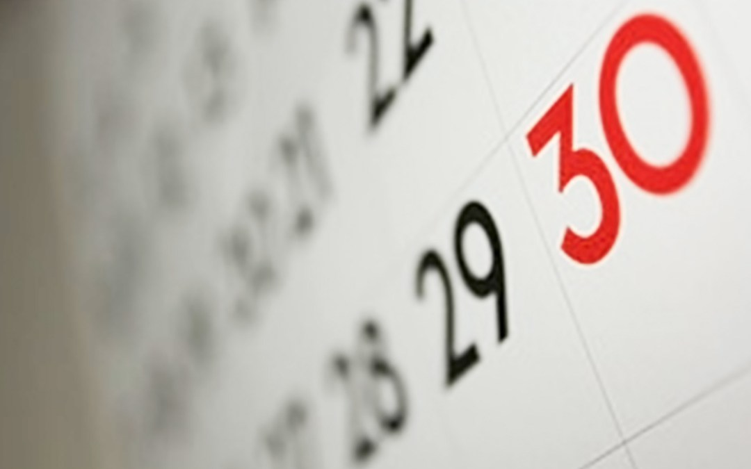 Schedule your good stuff
