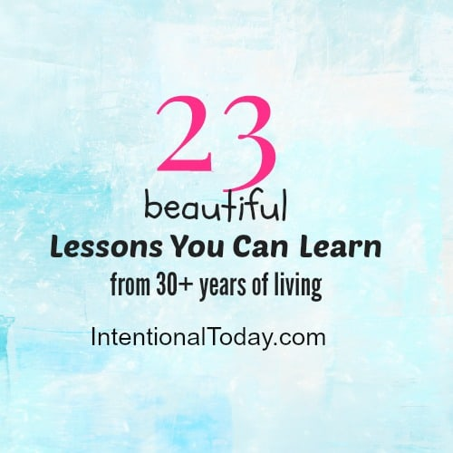 23 beatiful lessons about life