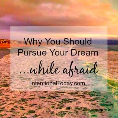 On Living Your Dream – Why Being Brave (Even When Afraid) Is A Good Idea