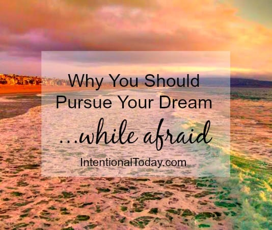 Why you should pursue your dream, even while afraid