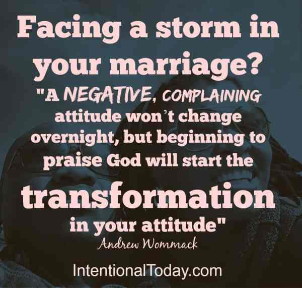 Praising through the storms in marriage..because marriage doesn't have to be perfect to be good
