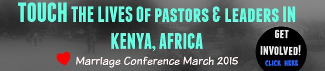 Get involved; Sponsor a Kenya pastor to a marriage conference
