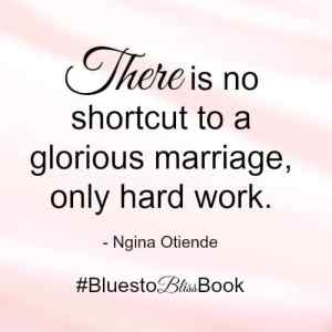 no shortcut to a happy marriage