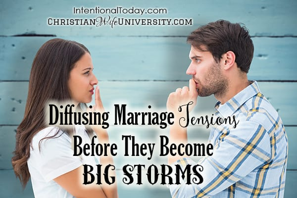Diffusing marriage tensions before they become big storms