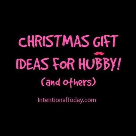 Christmas gift ideas for hubby!