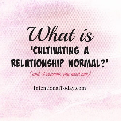 Why you need to create a marriage normal