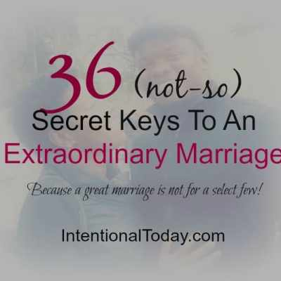 36 {Not-So} Secret Keys To An Uncommon Marriage