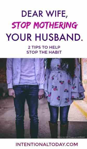 2 ways to stop mothering tendencies in marriage