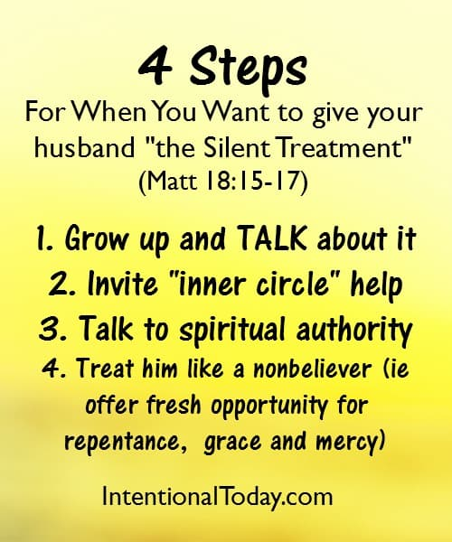What to do when you want to give your husband the silent treatment
