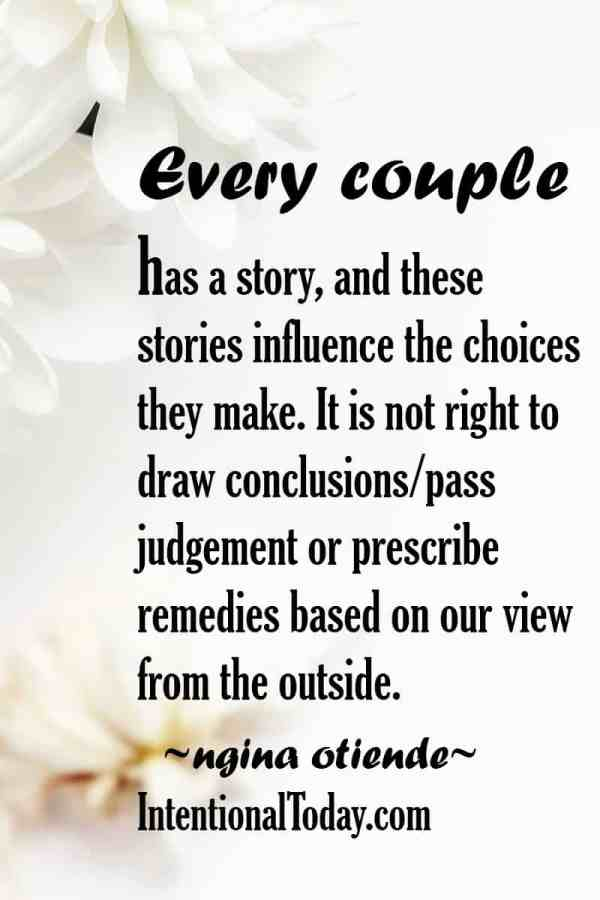 It's more important to listen than to talk. Tips to developing understanding and empathy towards others marriages as we learn how to grow our own.
