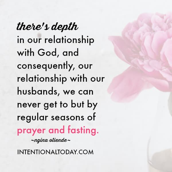 Fasting for your marriage - the benefits and how to