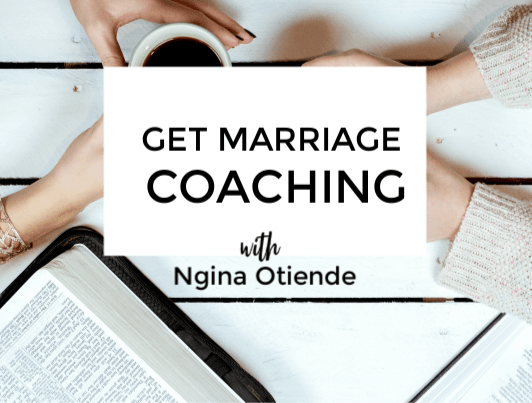 Marriage coaching with Ngina Otiende is an opporunity to take your marriage from where it is to where you want it to be - more vibrant, intimate and healthy