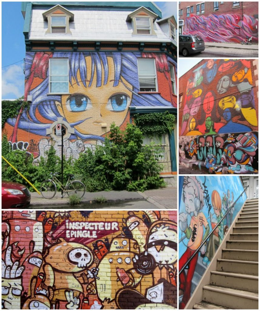 Montreal Mural Collage | Intentional Travelers