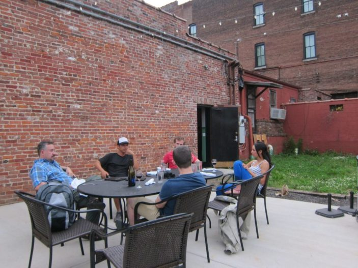 Outdoor seating at Rizzo's