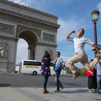 Jumping Jedd, Arc de Triomphe, Paris | Intentional Travelers