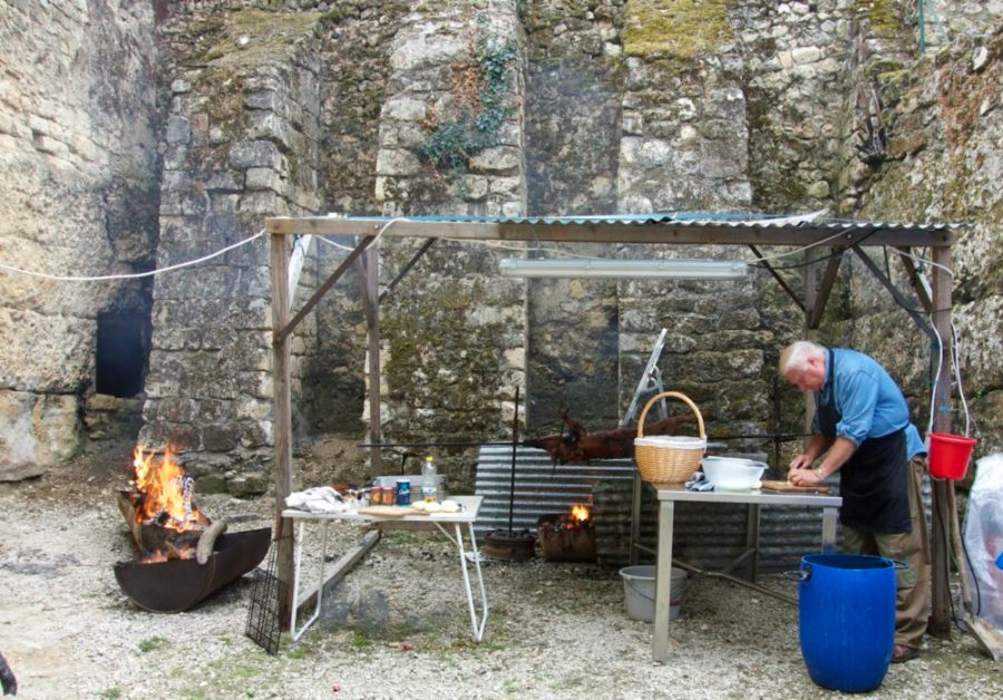 Loire Valley village chateau pig roast | Intentional Travelers