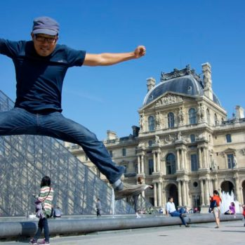 The Louvre - Paris, France Jumping Jedd | Intentional Travlers
