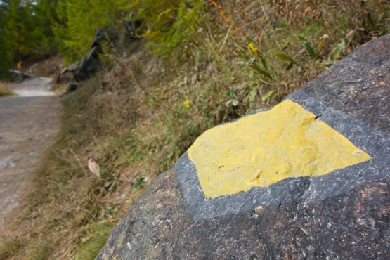 Hiking Path Signs - Nendaz, Switzerland | Intentional Travelers