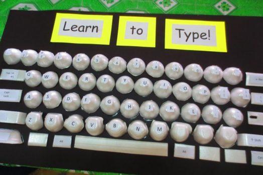 Egg carton keyboard