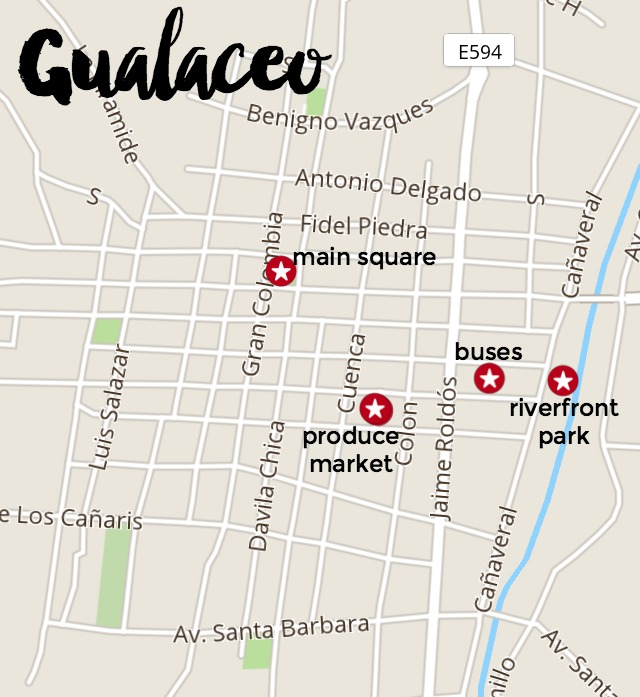 Gualaceo map