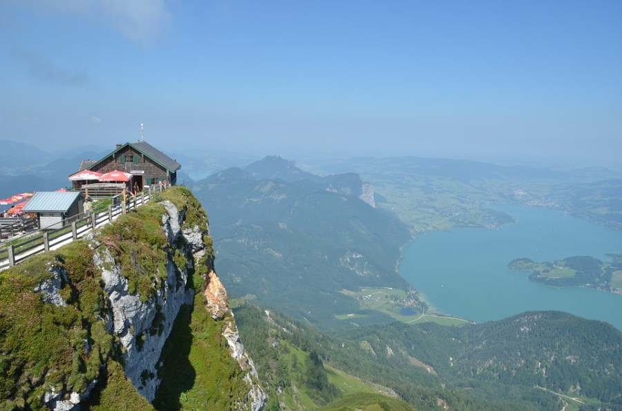 Mondsee Austria Landscape Mountains Mountain Hut