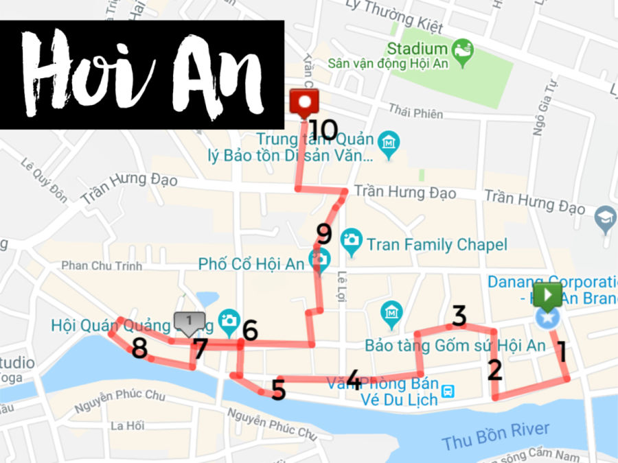 Hoi An itinerary: 3 days plus self guided walking tour map ... Walking Map on