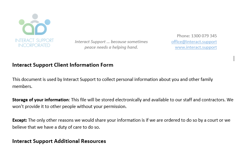 Interact Client File