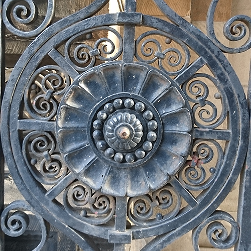 Old Medical School Iron Gate, detail