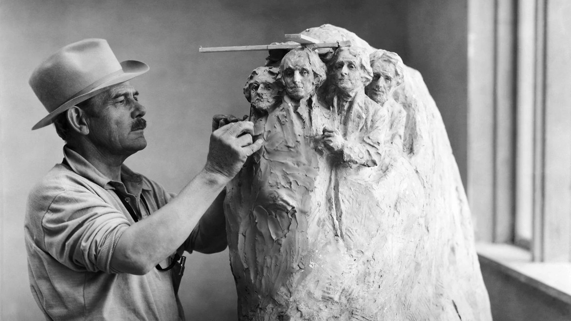 Preliminary model for the Mount Rushmore