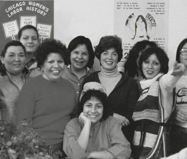 Early Members Of Mujeres Latinas En Accion Shown In Their Office At Th Street In The Late S From Left To Right Standing Josephine Vargas