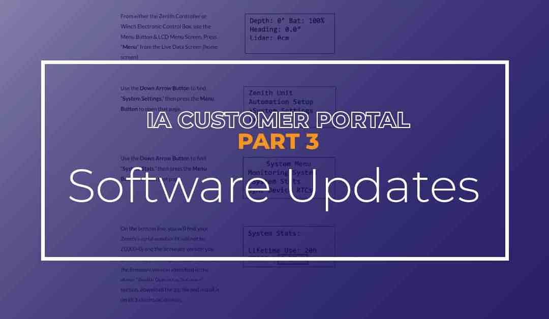 Software Updates | IA Customer Portal