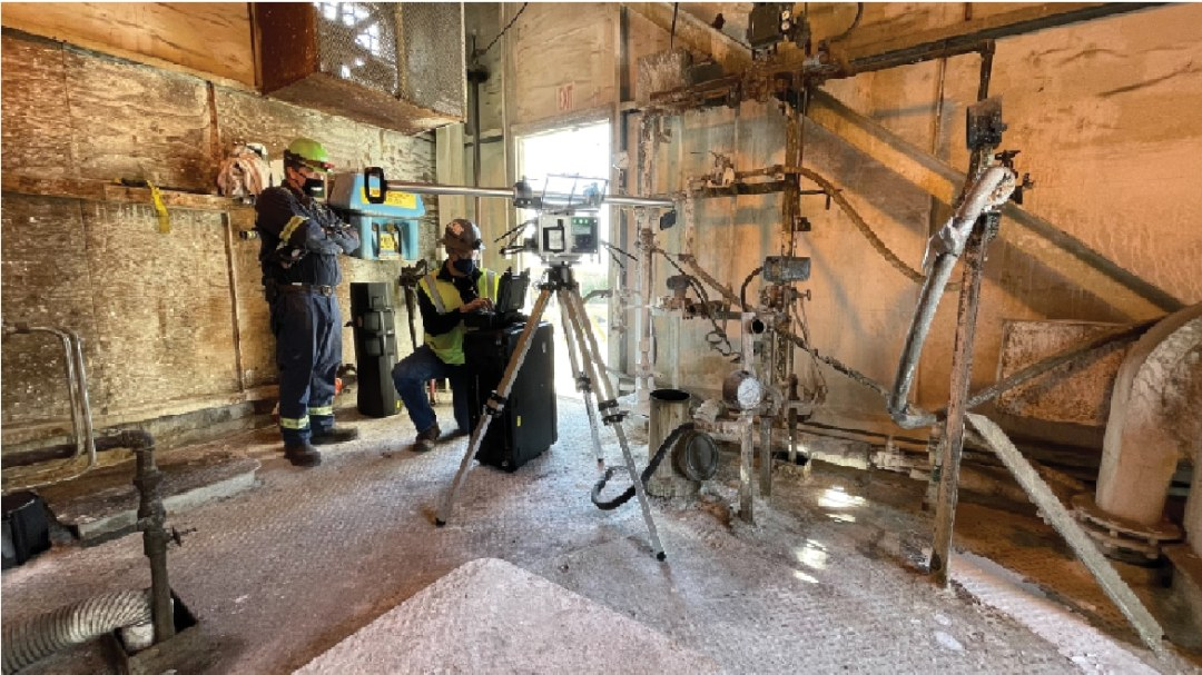 Zenith's Automation inspecting a coal silo