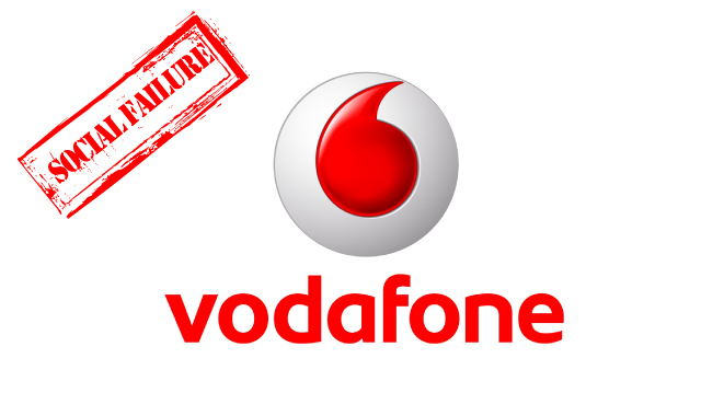 social media failure vodafone
