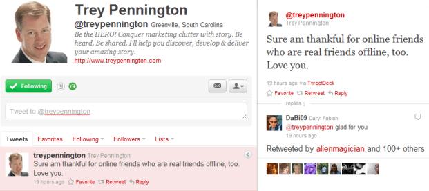 Trey Pennington Last Tweet on 04 September 2011