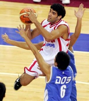 Ali Fakhreddine at lebanon asian basketball champs qf 1