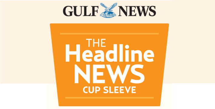 gulfnews news cup sleeve