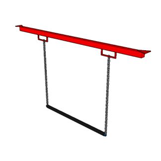 NW-OTP-0610@Trapeze-Bars-Single-Katana-Frame@.167×3.375×6.000