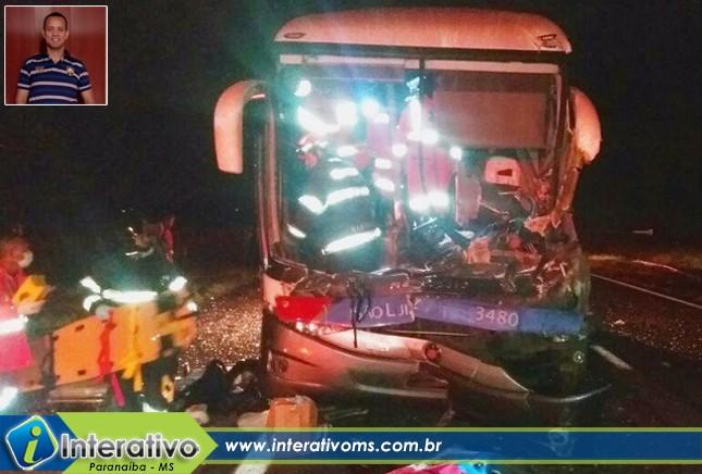 Motorista paranaibense falece em acidente com ônibus da São Luiz